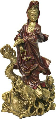 Kuan-Yin on a dragon - Photo Museum Store Company