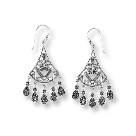 Imperial Collection - Indian Inspired  Five Drop Dangle Earrings - Photo Museum Store Company