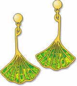Ginkgo Leaf Earrings - Photo Museum Store Company