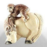 Horse with Monkey - Japanese Netsuke - Photo Museum Store Company