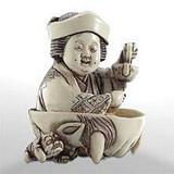 Otakufu (Goddess of Mirth) - Japanese Netsuke - Photo Museum Store Company
