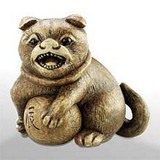 Dog - Japanese Netsuke - Photo Museum Store Company