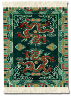 Tibetan Dragon: Asian Miniature Rug & Mouse Pads - Photo Museum Store Company
