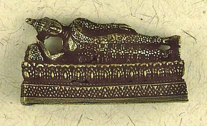 Maha-Para-Nirvana, The Dying Buddha Small Figurine : Hindu & Buddhist Figurines - Photo Museum Store Company