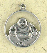 Laughing Buddha Pendant on Cord : Hindu & Buddhist Collection - Photo Museum Store Company