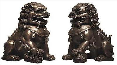 Set of Two Chinese Foo-Dogs - Photo Museum Store Company