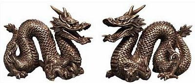 Set of Two Chinese Dragons - Photo Museum Store Company