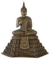 Large Buddha with 108 worshippers throne - Photo Museum Store Company