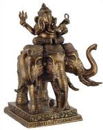 Ganesh seated on elephant - Photo Museum Store Company