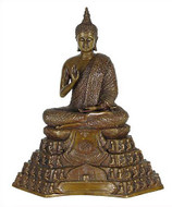 Small Buddha with 108 worshippers throne - Photo Museum Store Company