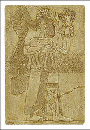 Assyrian Protective Spirit - Palace of Assurnasirpal II Nimrud, Assyria ca 875-860 B.C. - Photo Museum Store Company