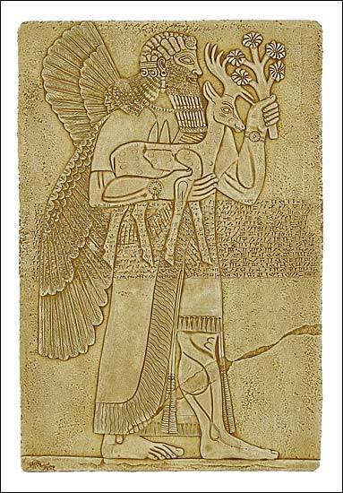 Assyrian Protective Spirit - Palace of Assurnasirpal II Nimrud, Assyria ca 875-860 B.C. - Photo Museum Store Company