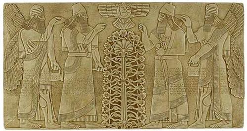 Ashurnasirpal Relief - Nimrud (ancient Kalhu), Neo-Assyrian, 883-859 BC. - Photo Museum Store Company