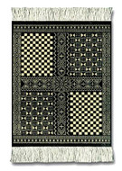 West African Bglanfini CoasterRug: International - Travel Coaster Rug Set of Four - Photo Museum Store Company