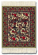Jade FARS PICTORIAL Coaster Rug Set: Brown-Green Group - Photo Museum Store Company