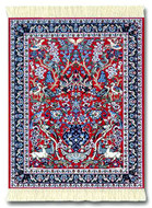 Tree of Life Miniature Rug & Mouse Pad : Red Group - Persian Gift / Accessories - Photo Museum Store Company