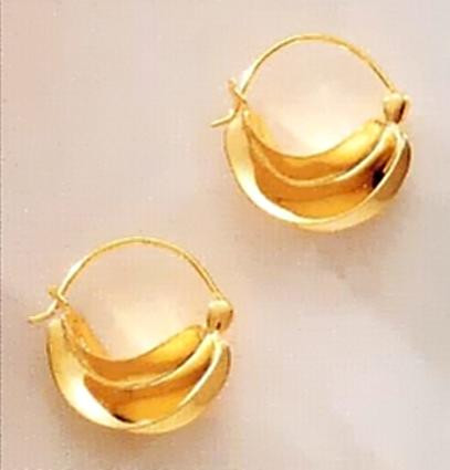 Fulani Hoop Earrings, vermeil - West African - Photo Museum Store Company