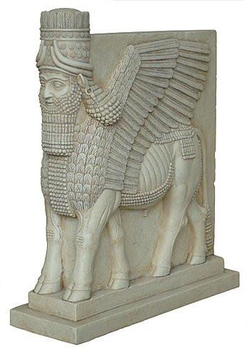 Assyrian Lamassu winged bull - Photo Museum Store Company