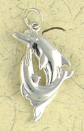 Dolphins Pendant on Cord : Nature, Wildlife and Marine Animal Collection - Photo Museum Store Company
