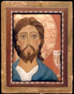 Jesus with Holy Grail  - Icon Pin - Photo Museum Store Company