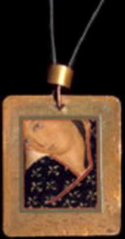 Magdalene in Black - Icon Pendant on Cord - Photo Museum Store Company