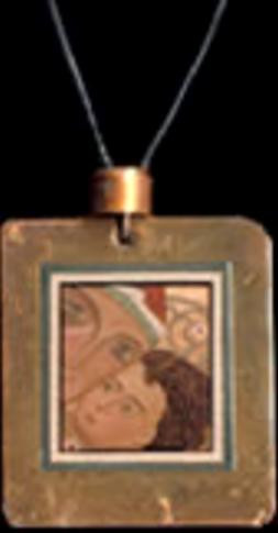 Mother and Child - Icon Pendant on Cord - Photo Museum Store Company