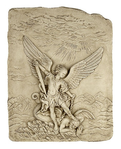 Archangel Michael slaying the devil  :  Church of Santa Maria Della Concezione, Rome. 1626 A.D. - Photo Museum Store Com