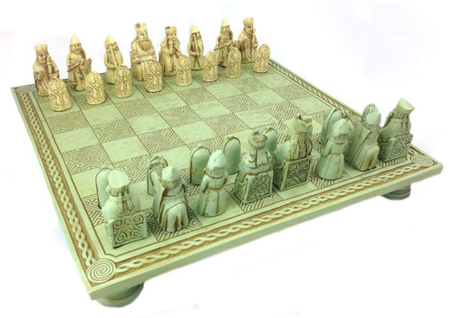 Isle of Lewis - British Museum Celtic chess set and board - Photo Museum Store Company