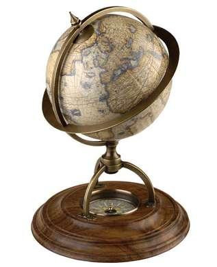 Terrestrial Globe With Compass - Photo Museum Store Company