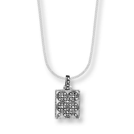 Imperial Collection - Marcasite Square Pendant - Photo Museum Store Company