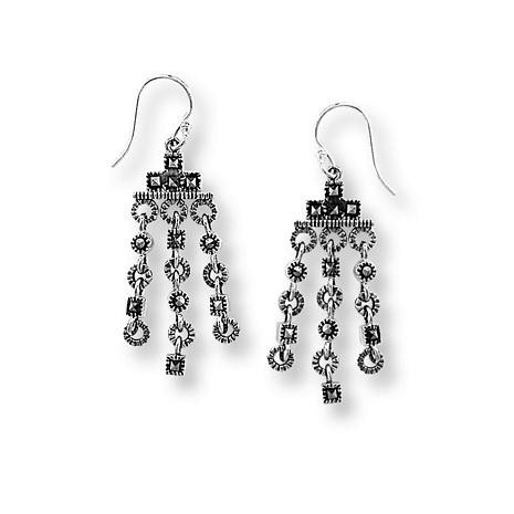 Imperial Collection - Marcasite Three Drop Dangle Earrings - Photo Museum Store Company