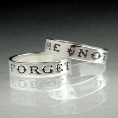 Forget Me Not Ring : National Museum, Dublin Ireland - Posey & Inscribed Ring - Photo Museum Store Company