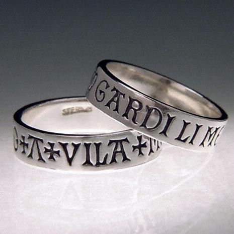 A Vila Mon Gardi Li Mo  Ring (Here is my heart guard it well) : France, 15th Century - Posey & I - Photo Museum Store Co