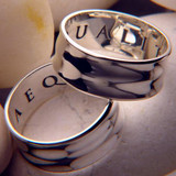 Aequalitas Ring (Equality of Rights) : Leonardo da Vinci - Posey & Inscribed Ring - Photo Museum Store Company
