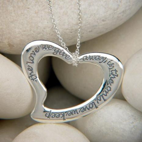 The Love We Give Away Is the Only Love We Keep Necklace - Photo Museum Store Company
