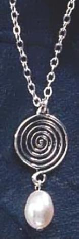 Celtic Swirl Drop Pendant & Necklace - Photo Museum Store Company