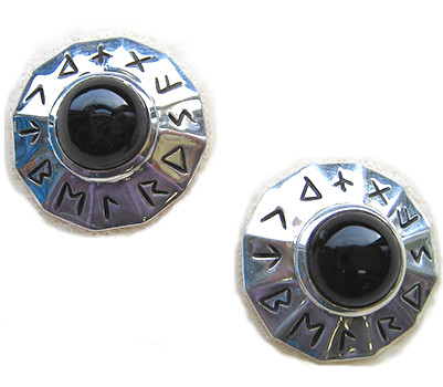 Mystical Rune Earrings - Viking 9th-10th Century - Photo Museum Store Company