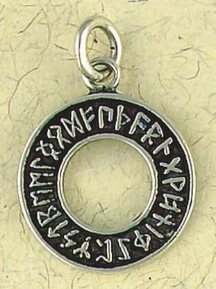 Runic Circle Pendant on Cord : Norse and Viking Collection - Photo Museum Store Company