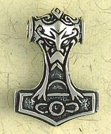 Thor's Hammer Pendant on Cord : Norse and Viking Collection - Photo Museum Store Company