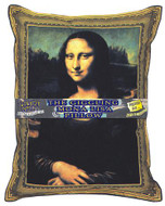 Giggling Mona Lisa Pillow - Laughing Pillow - Photo Museum Store Company