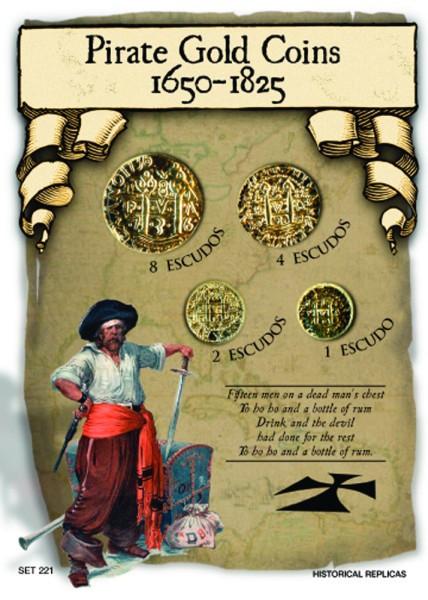 Pirate Treasure - American Treasure of the High Seas (14th to 18th Century)  - Replica Coins