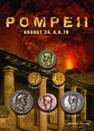 Pompeii - Roman Coins and the Coins buried by Mount Vesuvius (79AD) - Photo Museum Store Company