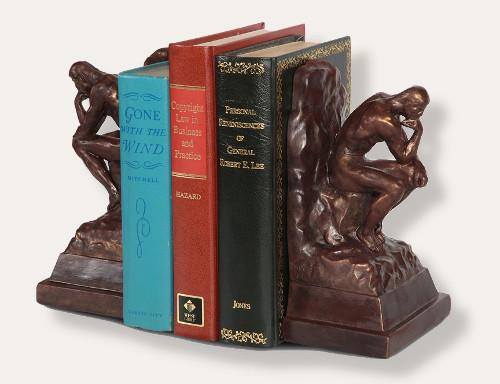 Thinker Bookends, Rodin, Original Baltimore Museum of Art - Photo Museum Store Company