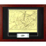 Bull Run Map - with Artifact, Relic - Photo Museum Store Company