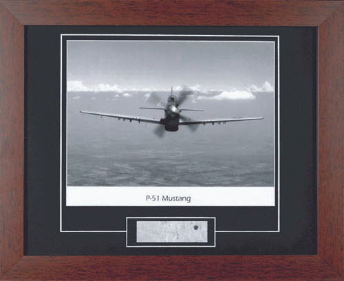 P51 Mustang - with Artifact, Relic - Photo Museum Store Company