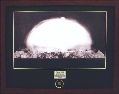 Trinity Test Bomb - with Artifact, Relic - Photo Museum Store Company