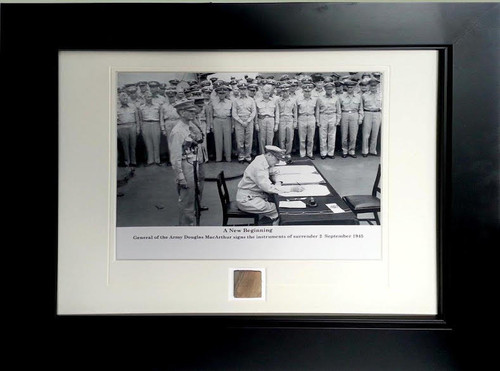 New Beginning - General Douglas MacArthur - with Artifact, Relic - Photo Museum Store Company