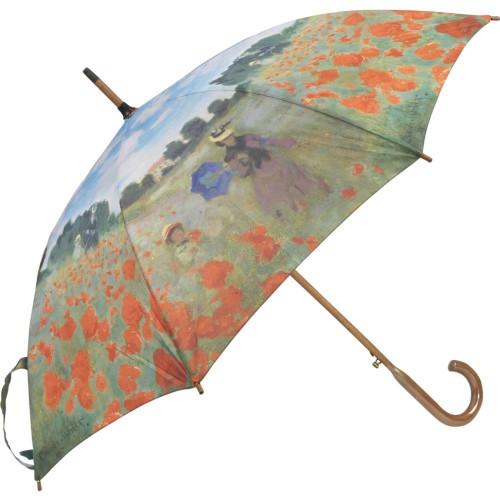 Monet Poppy Field Auto Stick Umbrella- Photo Museum Store Company