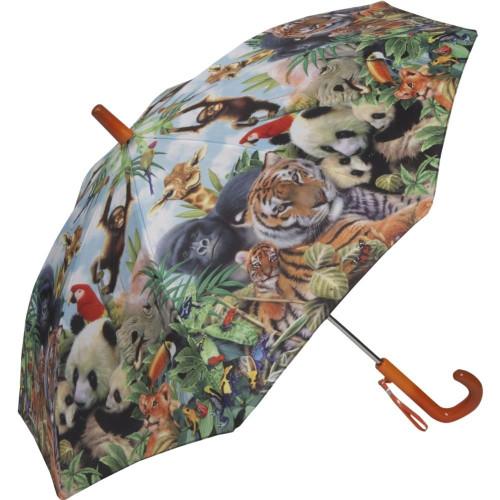 Animal Kingdom Zoo Kid's Stick Umbrella - Photo Museum Store Company