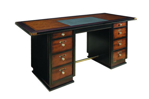 Captain's Desk, Black - Photo Museum Store Company